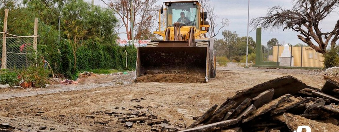 Pocito sigue con obras de pavimentación