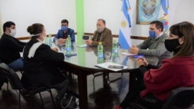 El intendente Sánchez se reunió con la directora de Arbolado Público de la Provincia